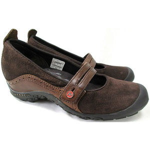 MERRELL Plaza Bandeau MJ Leather Suede Mary Janes